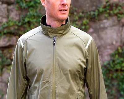 Vulpine Mens Original Rain Jacket - front detail